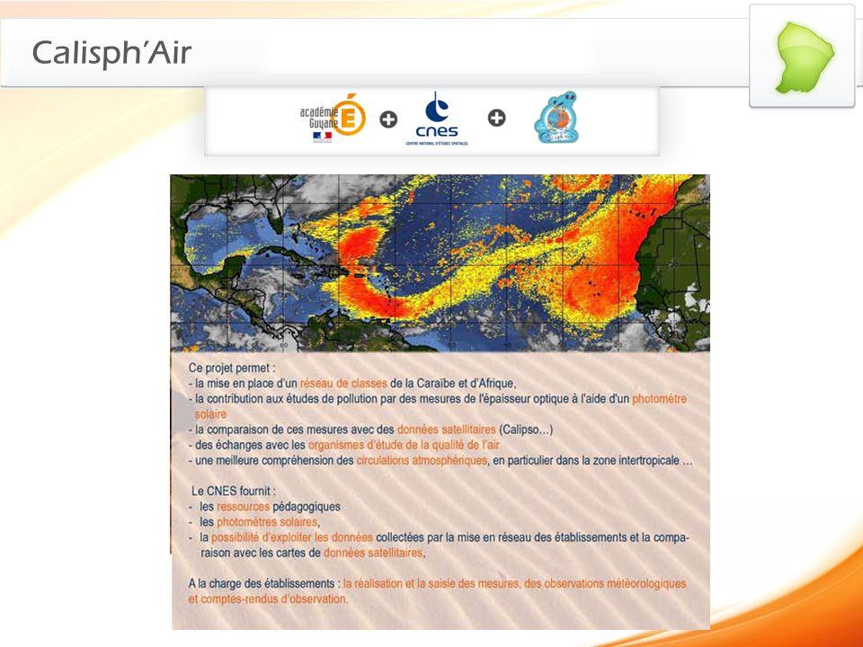 CalisphAir > Poussières du Sahara Origine de la pollution atmosphérique : Les poussières du Sahara Image datée du 22 juin 2010 (5 jours après un pic importants de pollution).