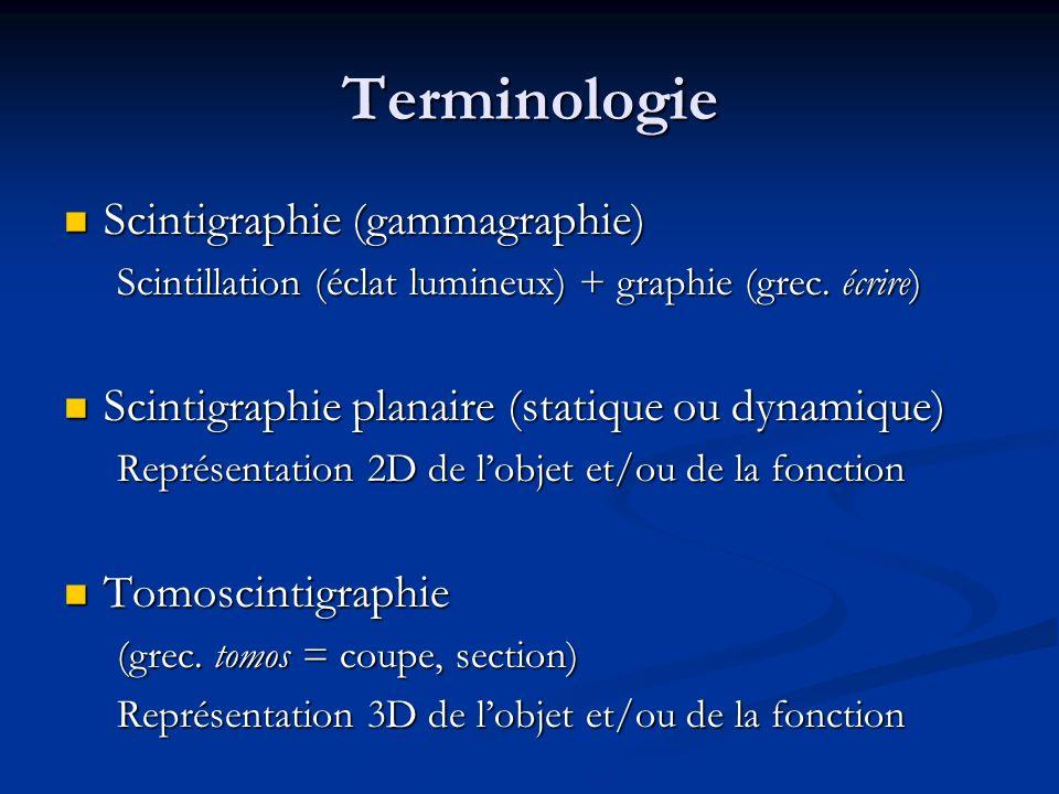 Résolution spatiale en MN Scintigraphie conventionnelle 8 mm Scintigraphie conventionnelle 8 mm TEP 4 ème génération 2 mm TEP 4 ème génération 2 mm