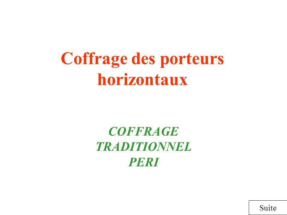 Coffrage des porteurs horizontaux COFFRAGE TRADITIONNEL PERI Suite