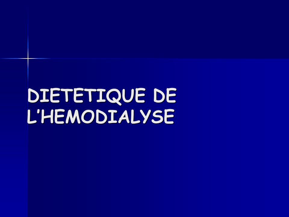 DIETETIQUE DE LHEMODIALYSE