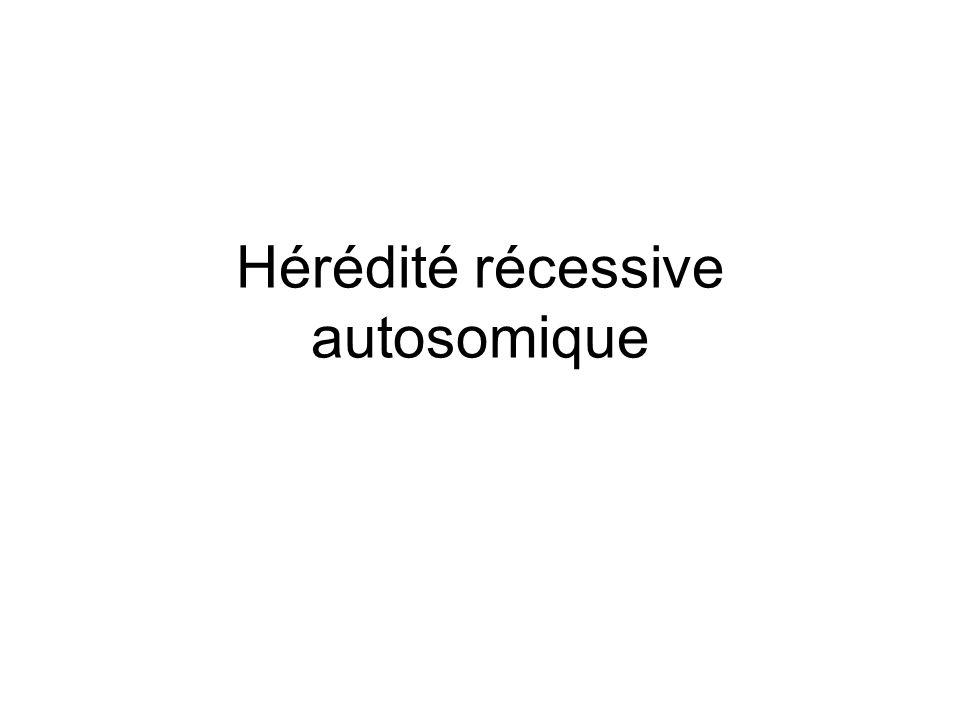Hérédité récessive autosomique