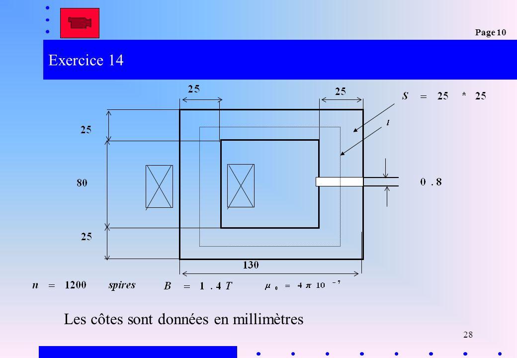 28 Exercice 14 Les côtes sont données en millimètres Page 10