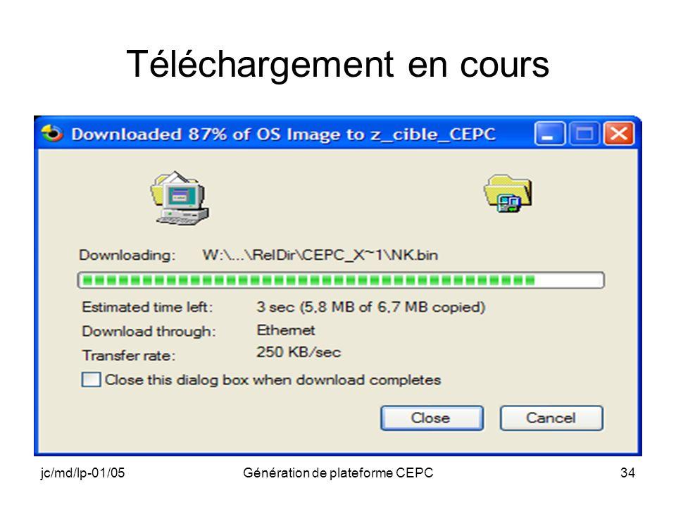 jc/md/lp-01/05Génération de plateforme CEPC34 Téléchargement en cours