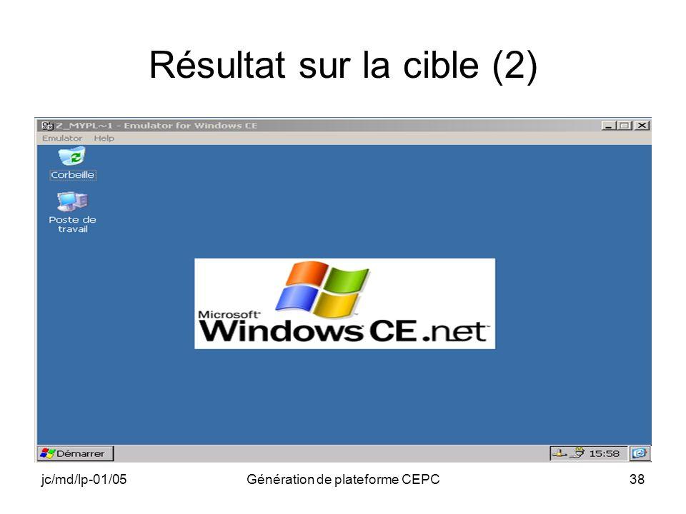 jc/md/lp-01/05Génération de plateforme CEPC38 Résultat sur la cible (2)
