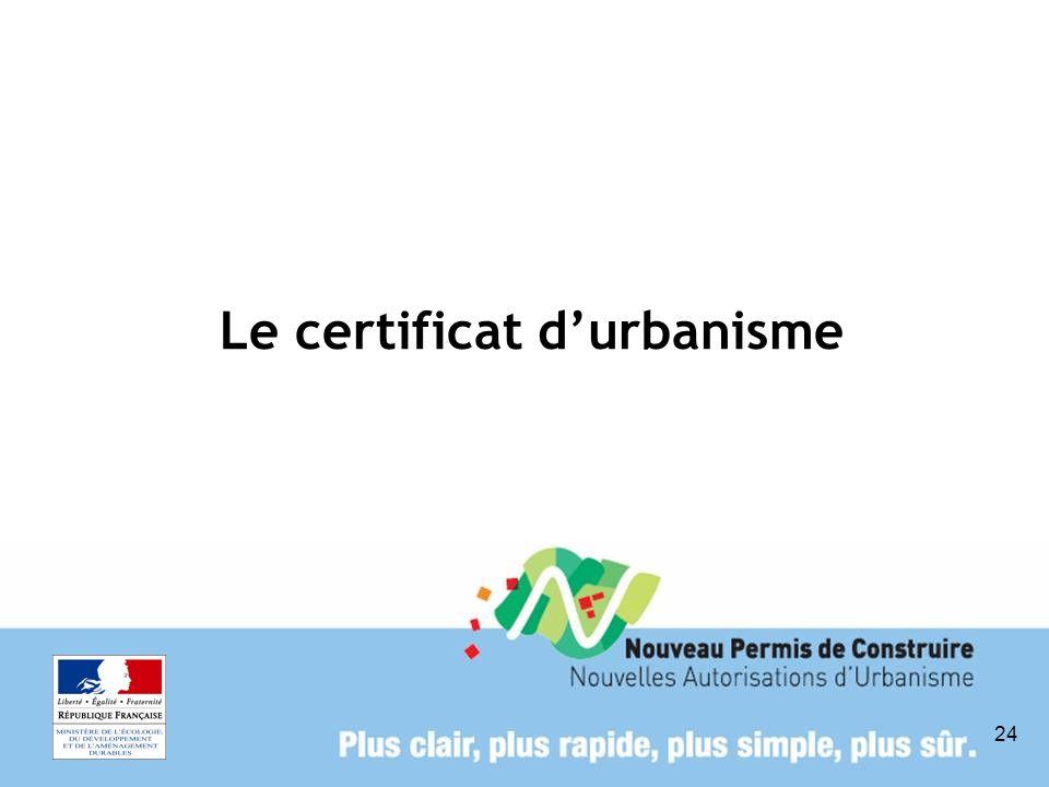 24 Le certificat durbanisme
