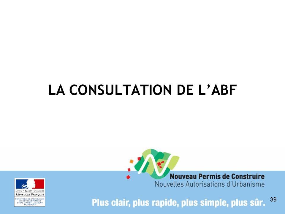 39 LA CONSULTATION DE LABF