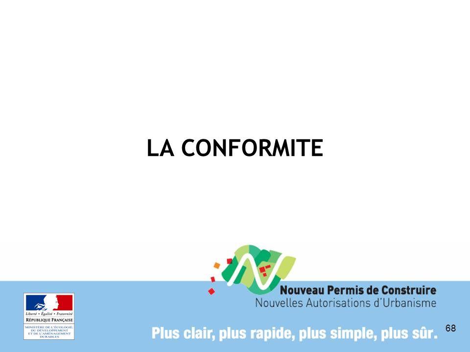 68 LA CONFORMITE
