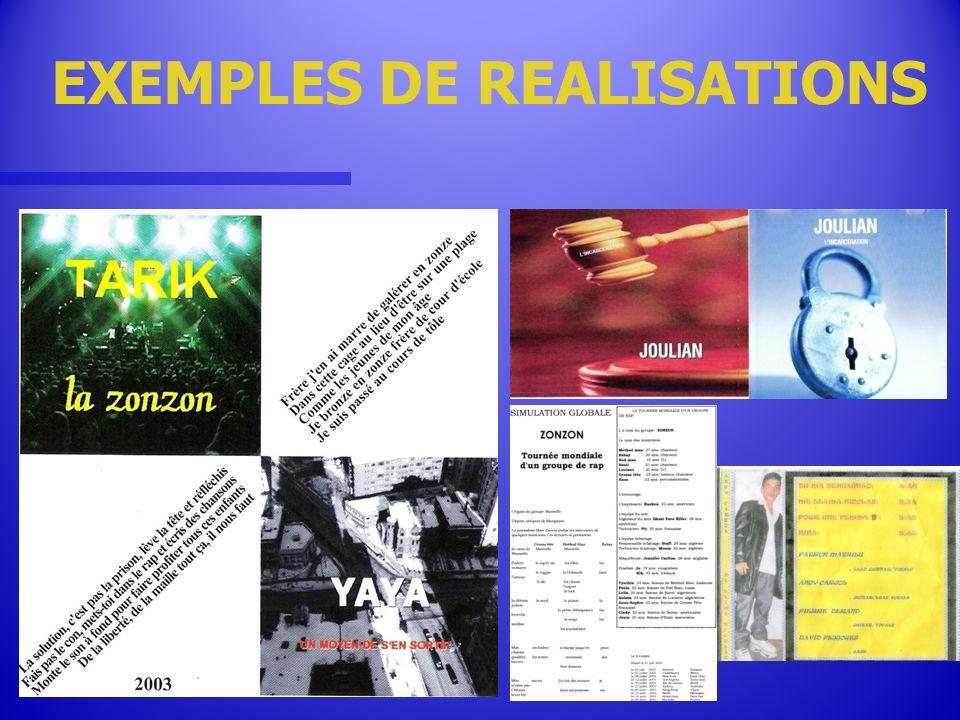 EXEMPLES DE REALISATIONS