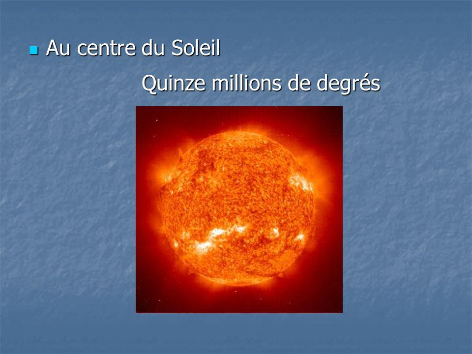 Au centre du Soleil Au centre du Soleil Quinze millions de degrés
