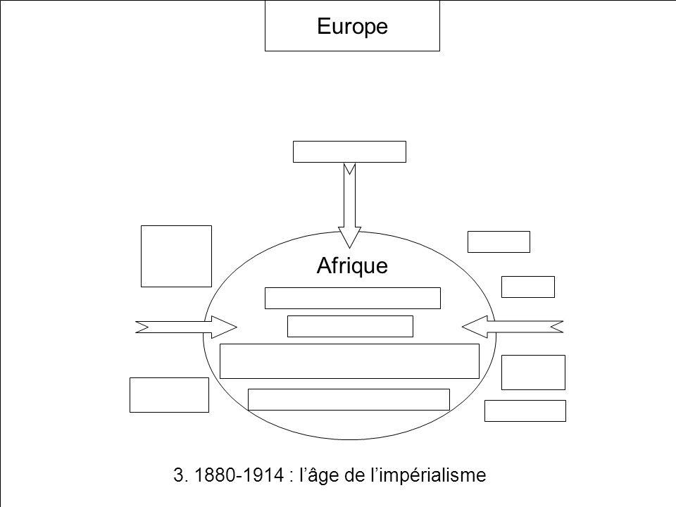 3. 1880-1914 : lâge de limpérialisme Continent immense et riche en minerais, métaux précieux et potentialités agricoles Esclavage endémique Etats trad