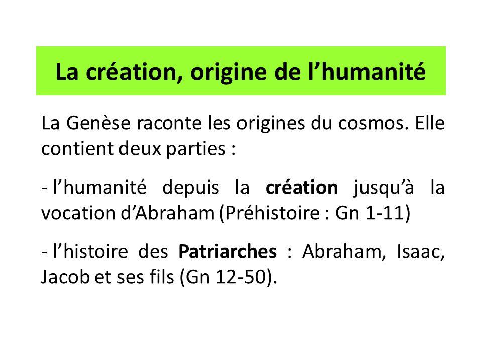 Il ne sagit pas dune explication scientifique - du commencement du monde ou de lhistoire - mais religieuse.