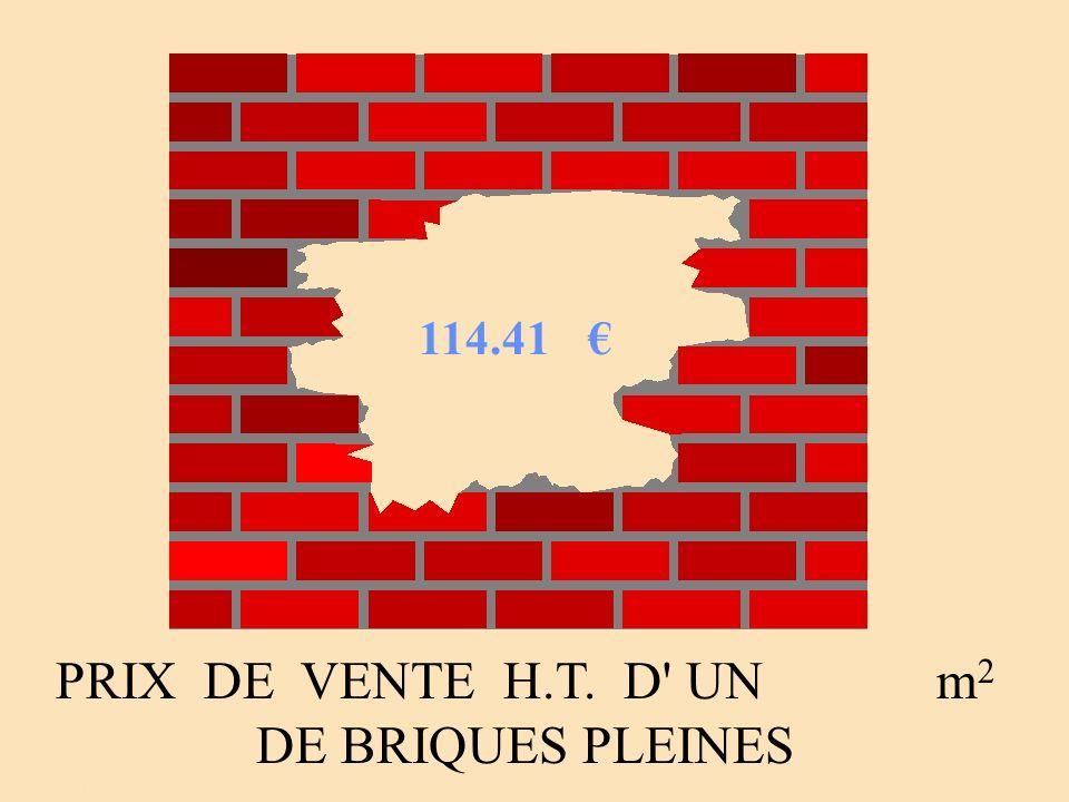 PRIX DE VENTE H.T. D' UN m 2 DE BRIQUES PLEINES 114.41 Auteur : AGIN, passage à le u r o j p g
