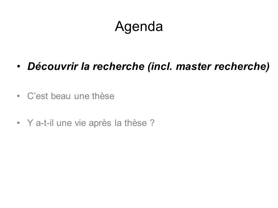 Agenda Découvrir la recherche (incl.