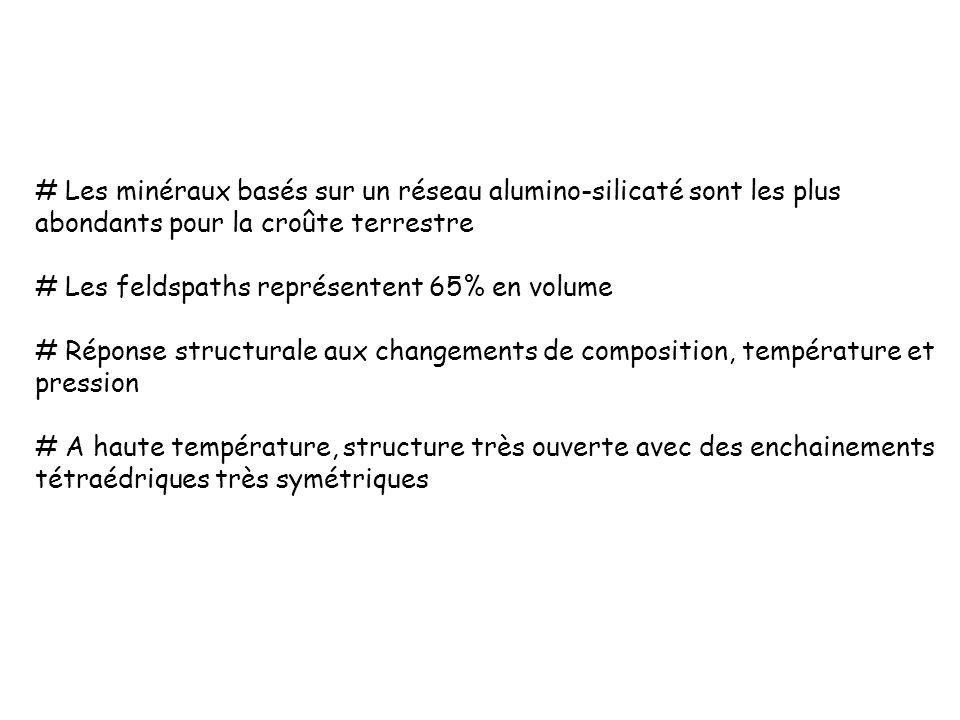 La silice Formes contrastées: cristaux formés dans des filons hydrothermaux Tous les tétraèdres sont polymérisés formule = SiO 2.