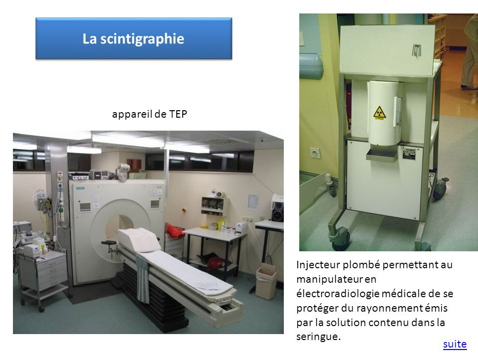 Injecteur plombé permettant au manipulateur en électroradiologie médicale de se protéger du rayonnement émis par la solution contenu dans la seringue.