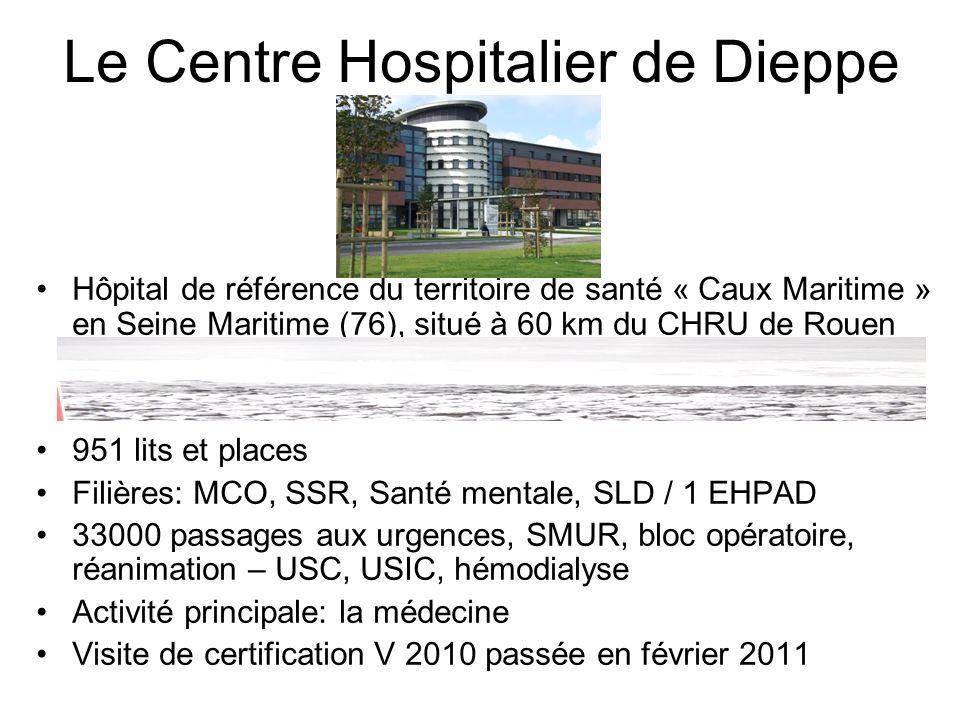 Le Centre Hospitalier de Dieppe Hôpital de référence du territoire de santé « Caux Maritime » en Seine Maritime (76), situé à 60 km du CHRU de Rouen 9