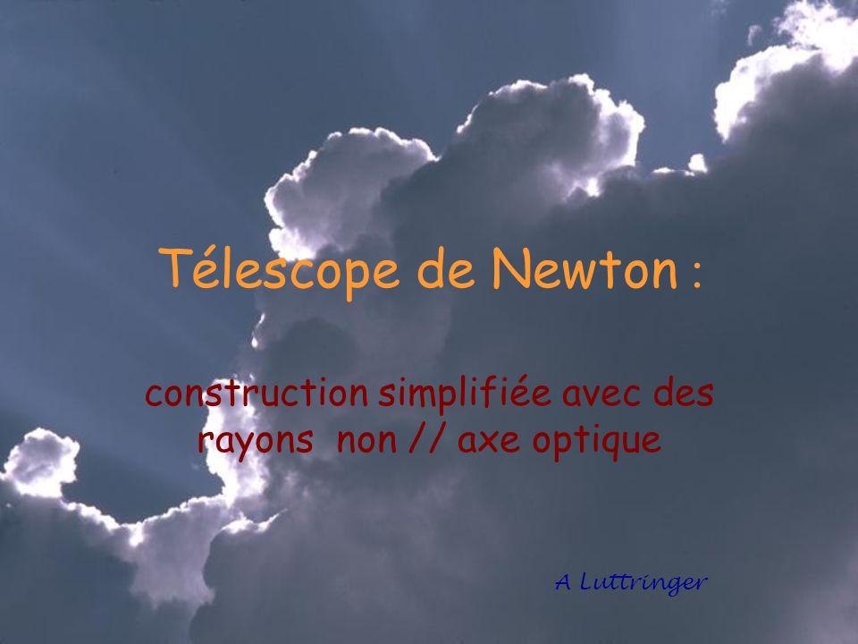 Télescope de Newton : construction simplifiée avec des rayons non // axe optique A Luttringer