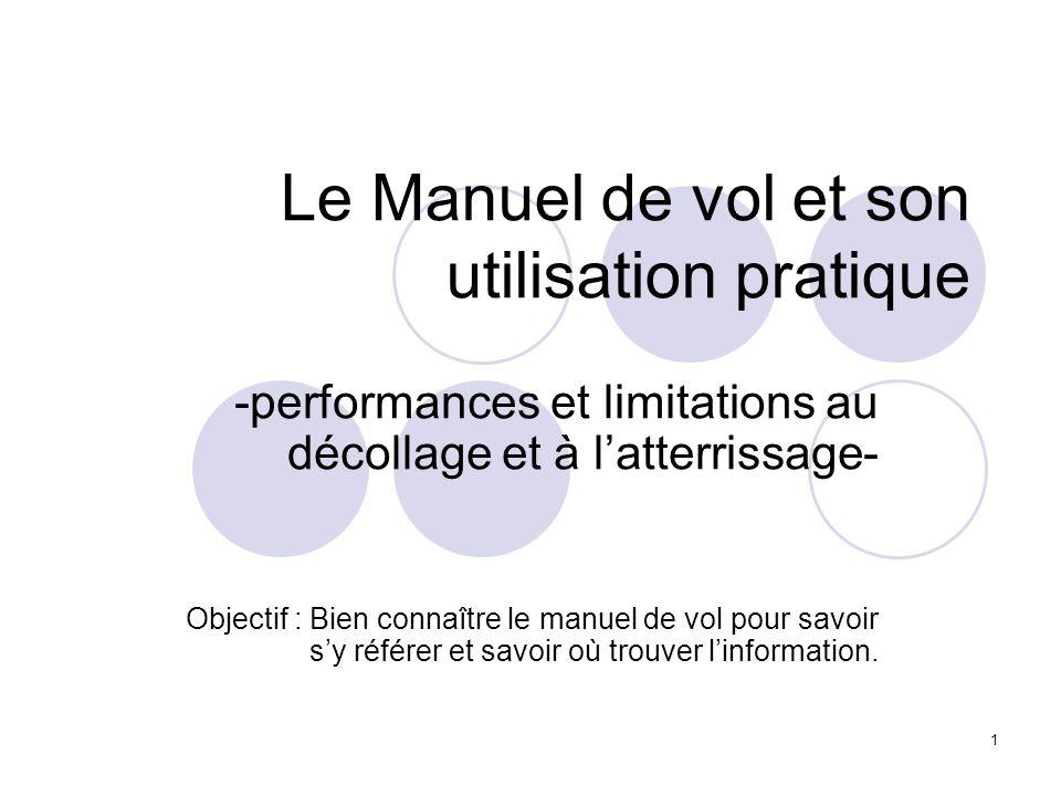 2 Le Manuel de vol et son utilisation pratique A/ Quest ce que le Manuel de vol B/ Le Manuel de vol C/ Utilisation pratique du Manuel de vol D/ Conclusion.