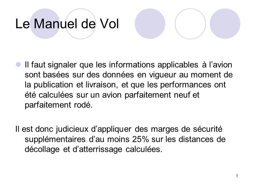 5 Le Manuel de Vol Il faut signaler que les informations applicables à lavion sont basées sur des données en vigueur au moment de la publication et li