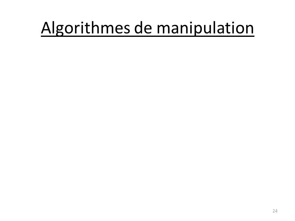 Algorithmes de manipulation 24