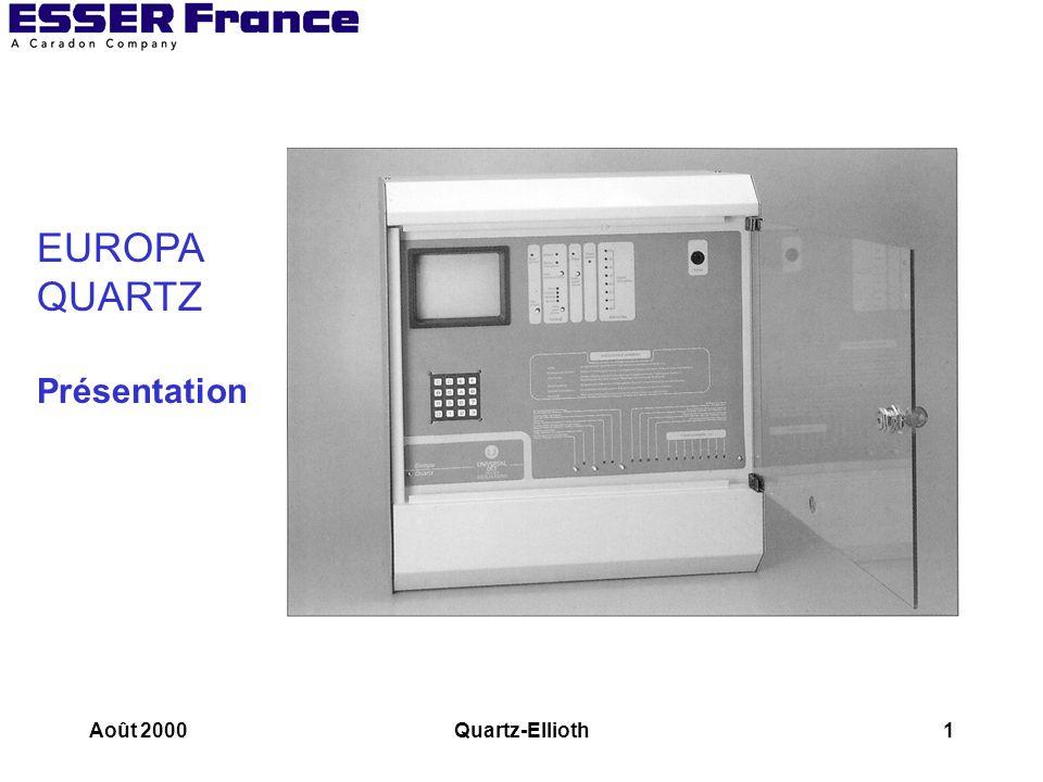 Août 2000Quartz-Ellioth22 Les déclencheurs manuels Raccordement de déclencheurs conventionnels sur un ADR8
