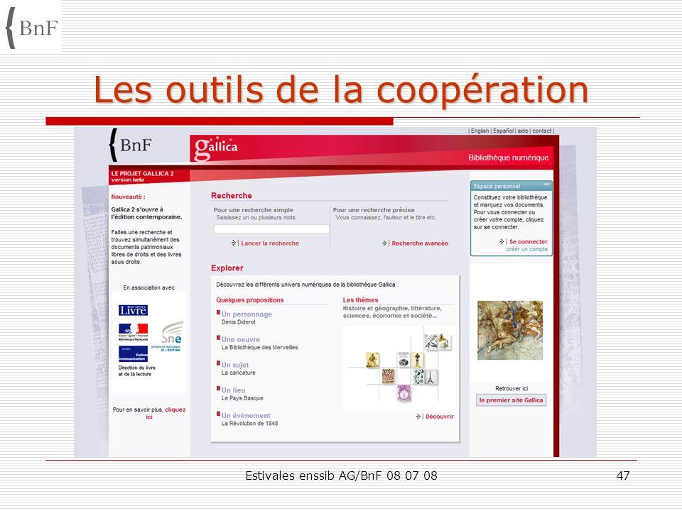 Estivales enssib AG/BnF 08 07 0847 Les outils de la coopération