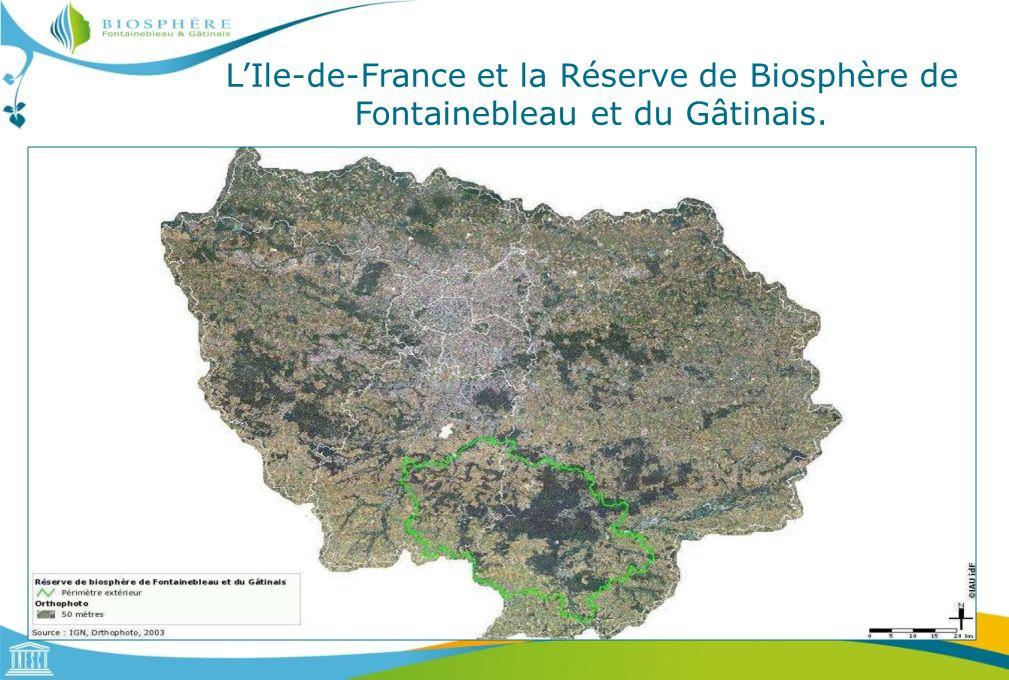 LIle-de-France et la Réserve de Biosphère de Fontainebleau et du Gâtinais, CLC 2006