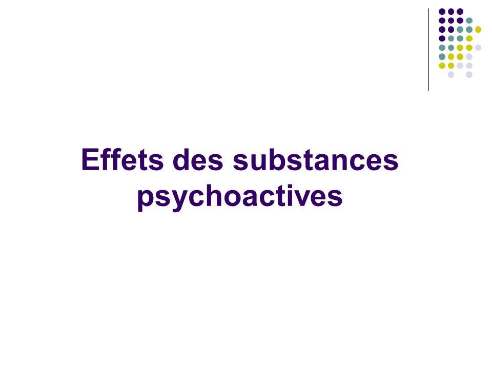 Effets des substances psychoactives