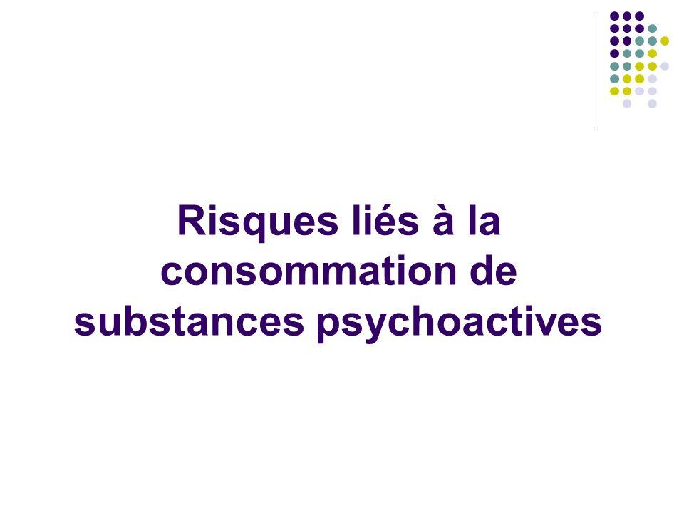 Risques liés à la consommation de substances psychoactives