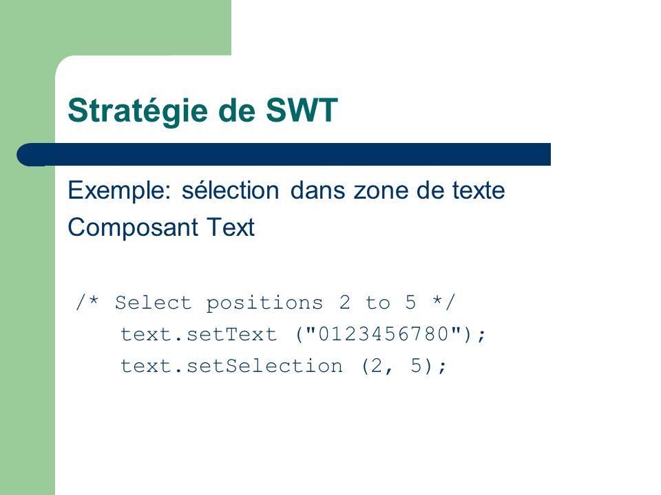 Les Viewers Chaque Viewer associé à 1 widget SWT Viewers utilisent 3 notions principales: – Input – ContentProvider – LabelProvider