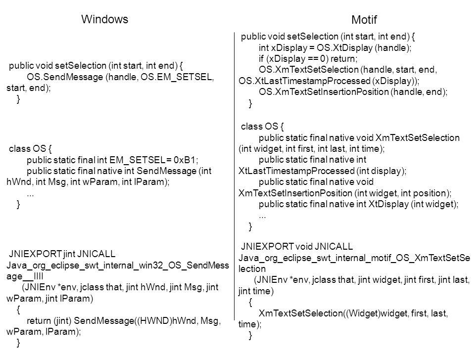 Stratégie de SWT implémentation du composant Text non portable MAIS LAPPLICATION QUI LUTILISE LEST.