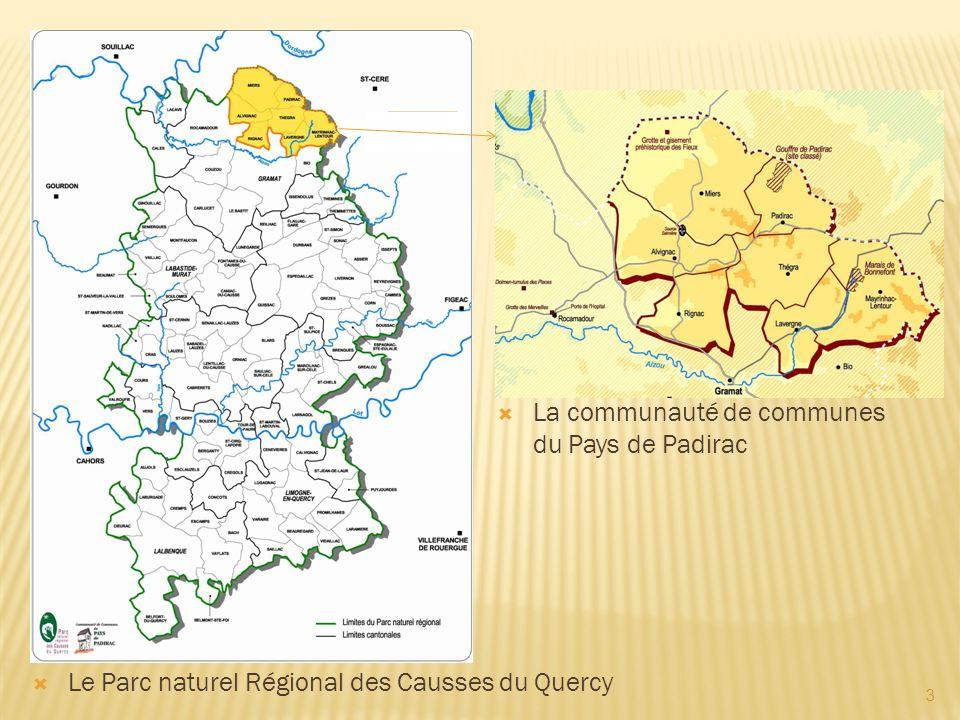 3 Le Parc naturel Régional des Causses du Quercy La communauté de communes du Pays de Padirac