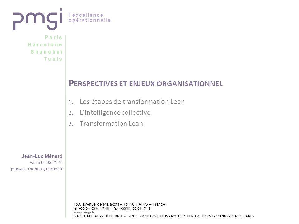 Paris Barcelone Shanghai Tunis lexcellence opérationnelle Jean-Luc Ménard +33 6 60 35 21 76 jean-luc.menard@pmgi.fr 159, avenue de Malakoff – 75116 PA