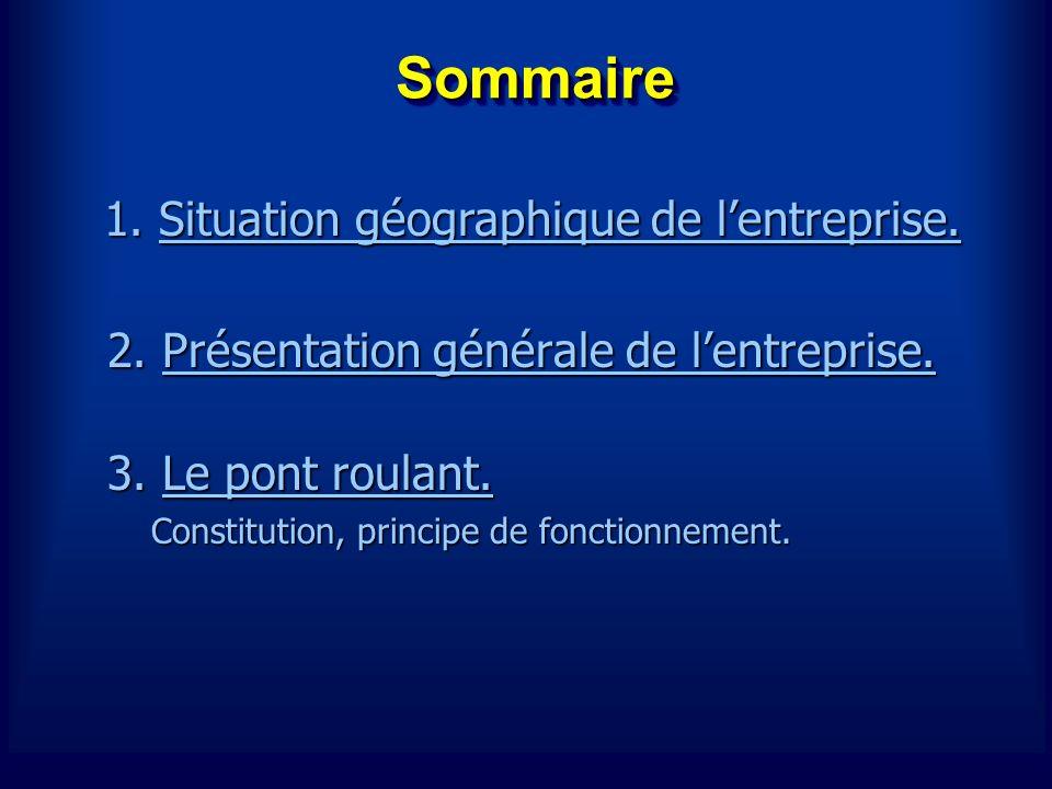 SommaireSommaire 2. Présentation générale de lentreprise.