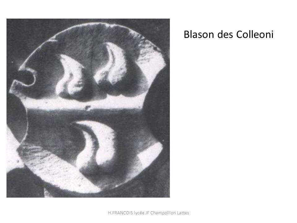 Blason des Colleoni H.FRANCOIS lycée JF Champollion Lattes
