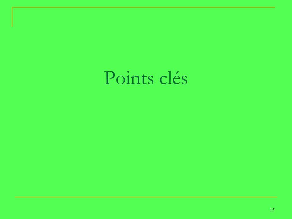15 Points clés