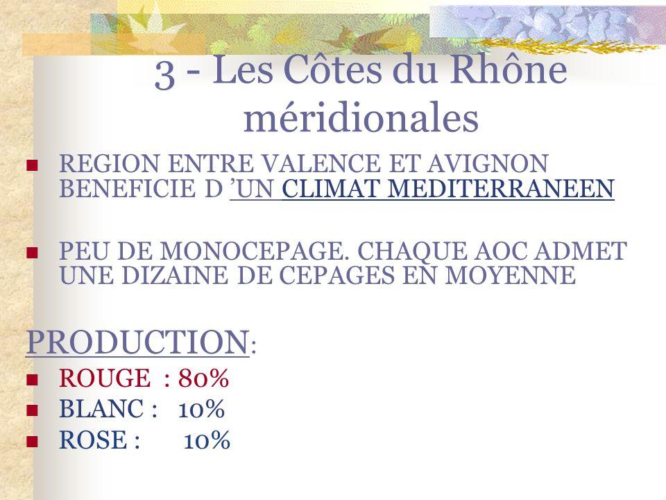 Les A.O.C des Cotes du Rhône Septentrionales Vins rosés: Aucune production de rosé au nord