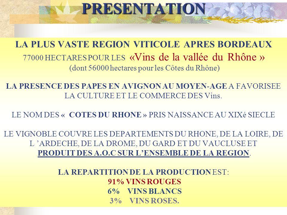 Les vignobles et les vins de la vallée du Rhône Présentation des vignobles de la vallée du Rhône La vallée du Rhône Eric & Frédérique La vallée du Rhô