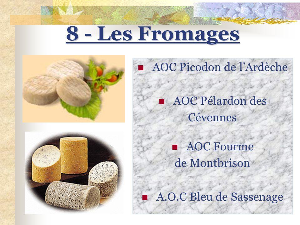 7 - Les produits du terroir 7 - Les produits du terroir de la région Rhône-Alpes AOC Noix de Grenoble AOC Olive de Nyons Fruits de la vallée du Rhône