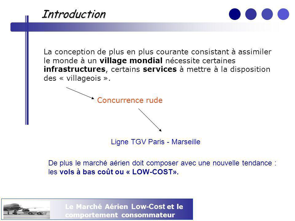 Le Marché Aérien Low-Cost et le comportement consommateur Introduction La conception de plus en plus courante consistant à assimiler le monde à un vil