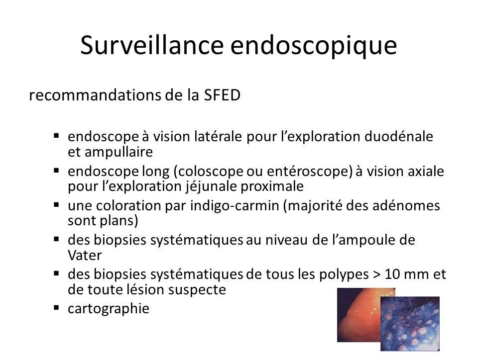 Surveillance endoscopique recommandations de la SFED endoscope à vision latérale pour lexploration duodénale et ampullaire endoscope long (coloscope o