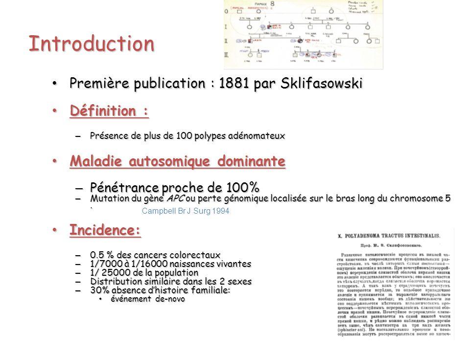 Introduction Première publication : 1881 par Sklifasowski Première publication : 1881 par Sklifasowski Définition : Définition : – Présence de plus de