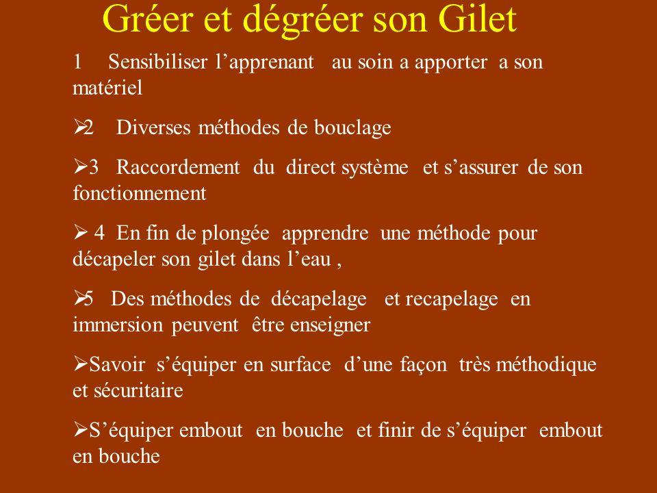 Découverte Du Gilet La présentation du gilet a pu déjà être faite au niveau 1,bien sur on ne plonge plus sans gilet Le niv1 recherchera léquilibre et