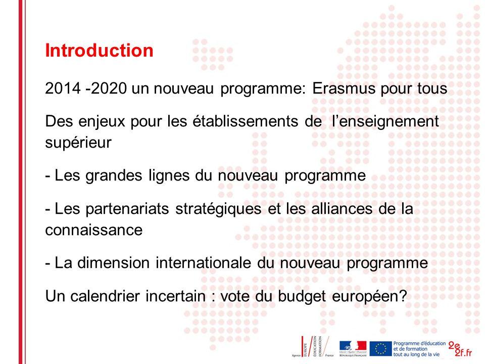 Date: in 12 pts Introduction 2014 -2020 un nouveau programme: Erasmus pour tous Des enjeux pour les établissements de lenseignement supérieur - Les gr