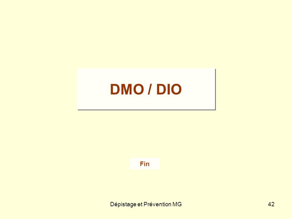 Dépistage et Prévention MG42 Fin DMO / DIO
