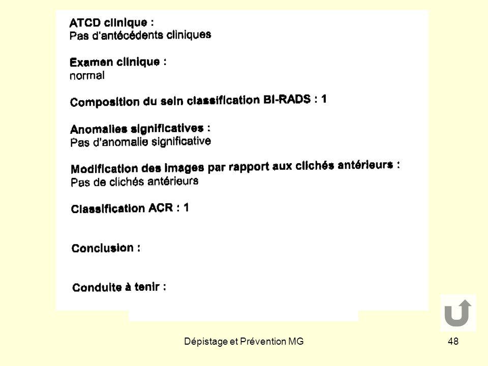 Dépistage et Prévention MG48