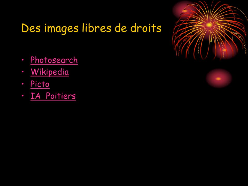 Des images libres de droits Photosearch Wikipedia Picto IA Poitiers