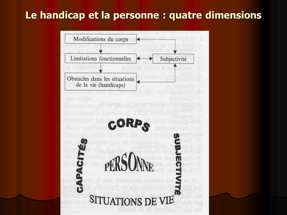 Le handicap et la personne : quatre dimensions