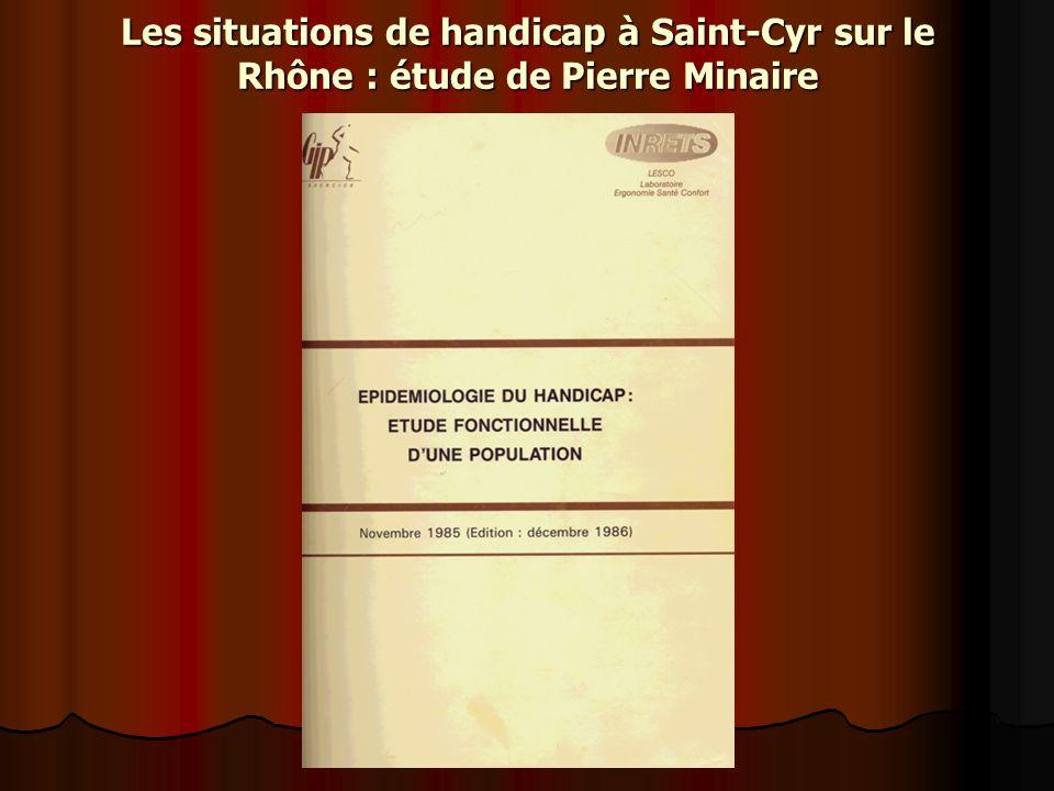 Les situations de handicap à Saint-Cyr sur le Rhône : étude de Pierre Minaire