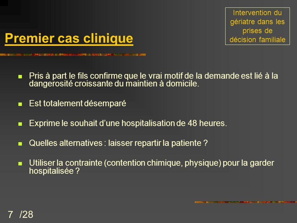 28 les patients identifiés comme posant un « problème de maintien à domicile » sont souvent « indésirables » parce quinadaptés par rapport à loffre de soins, dès ladmission aux urgence.